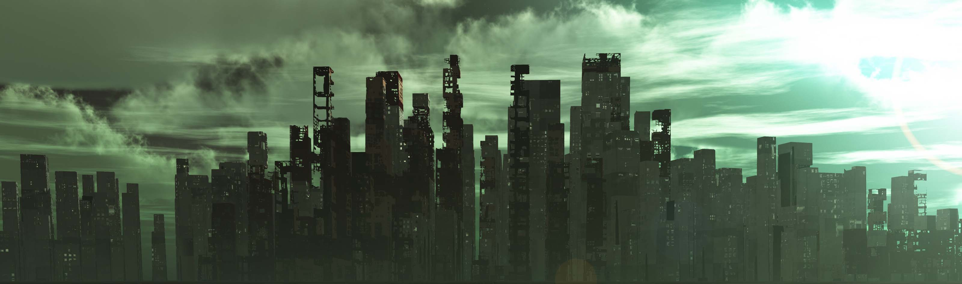 post apocalypse city landscape